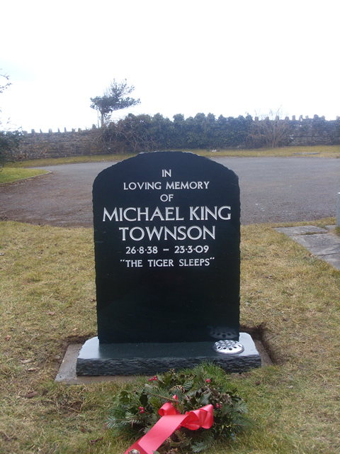 Black slate grave stone polished finish