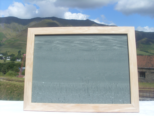 Lakeland scene in oak frame.