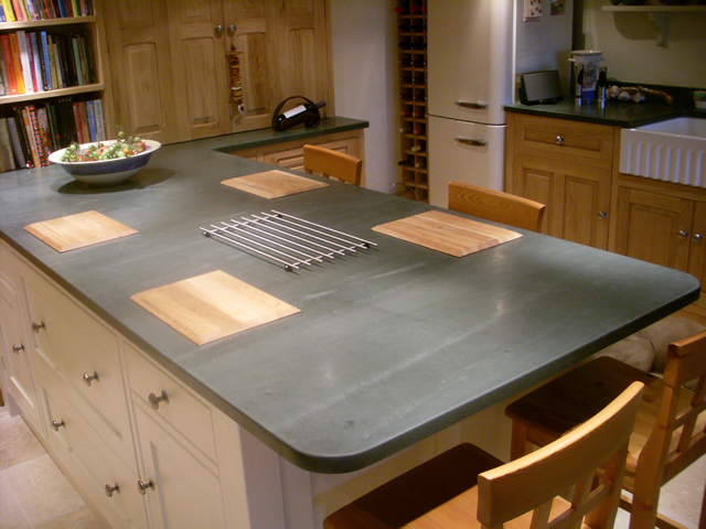 slate worktop island saddleback slate. Black Bedroom Furniture Sets. Home Design Ideas